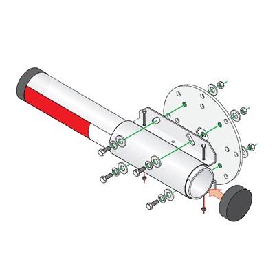 Kit de instalacion para brazo de aluminio