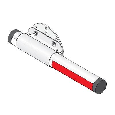 Brazo de aluminio sin iluminación de 14ft (4.26m) / Montaje no incluido