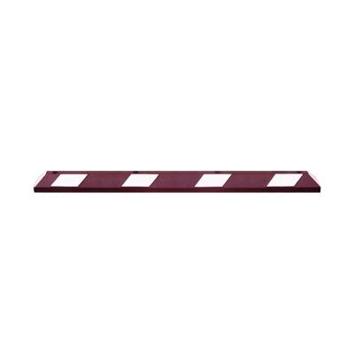 Tope para Estacionamiento 1.83 m, en Color Rojo con Cinta Reflejante Color Blanco