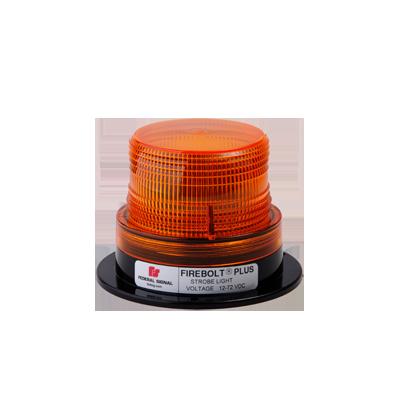 Estrobo ámbar FIREBOLT PLUS con tubo de reemplazo, 12-72 Vcd (2 Joules)