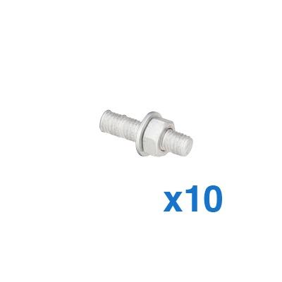 Kit de 10 tornillos para montar 1 separador de plástico.