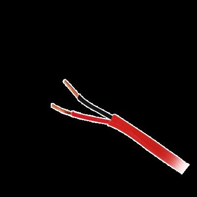 Bobina de 152 metros de alambre,18 AWG, 2 conductores, tipo FPL, de color rojo para aplicaciones en sistemas de detección de incendio y sistemas de evacuación.