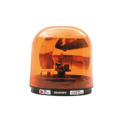 Luz Giratoria SENTRY con Reflector Tipo Parabólico de 95 fpm. Color ámbar.
