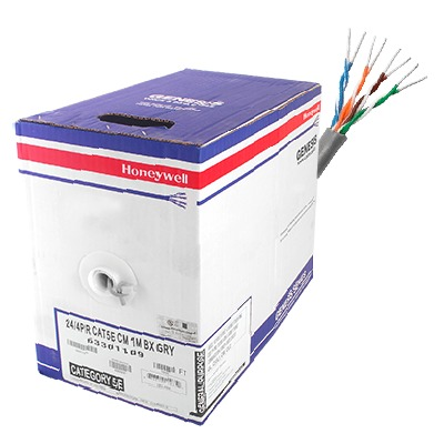 Bobina de cable de 305 metros, UTP Cat5e,de color Gris, UL, CM, probado a 350 Mhz, para aplicaciones de CCTV / redes de datos/ IP megapixel / control RS485