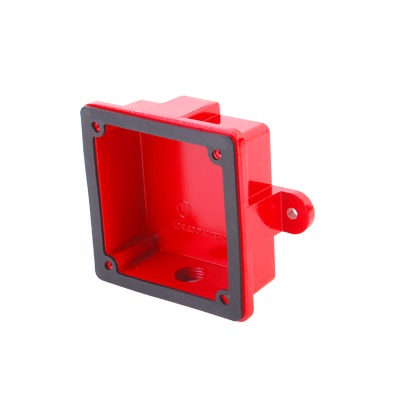 Caja Cuadrada 4 X 4 Para Instalaciones de Equipo Detector de Incendios, exterior o interior