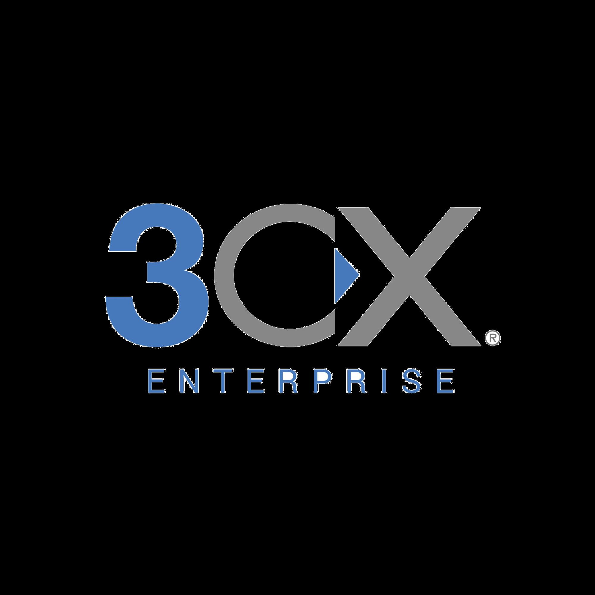Licencia anual de 3CX Enterprise para 32 llamadas simultáneas y extensiones ilimitadas