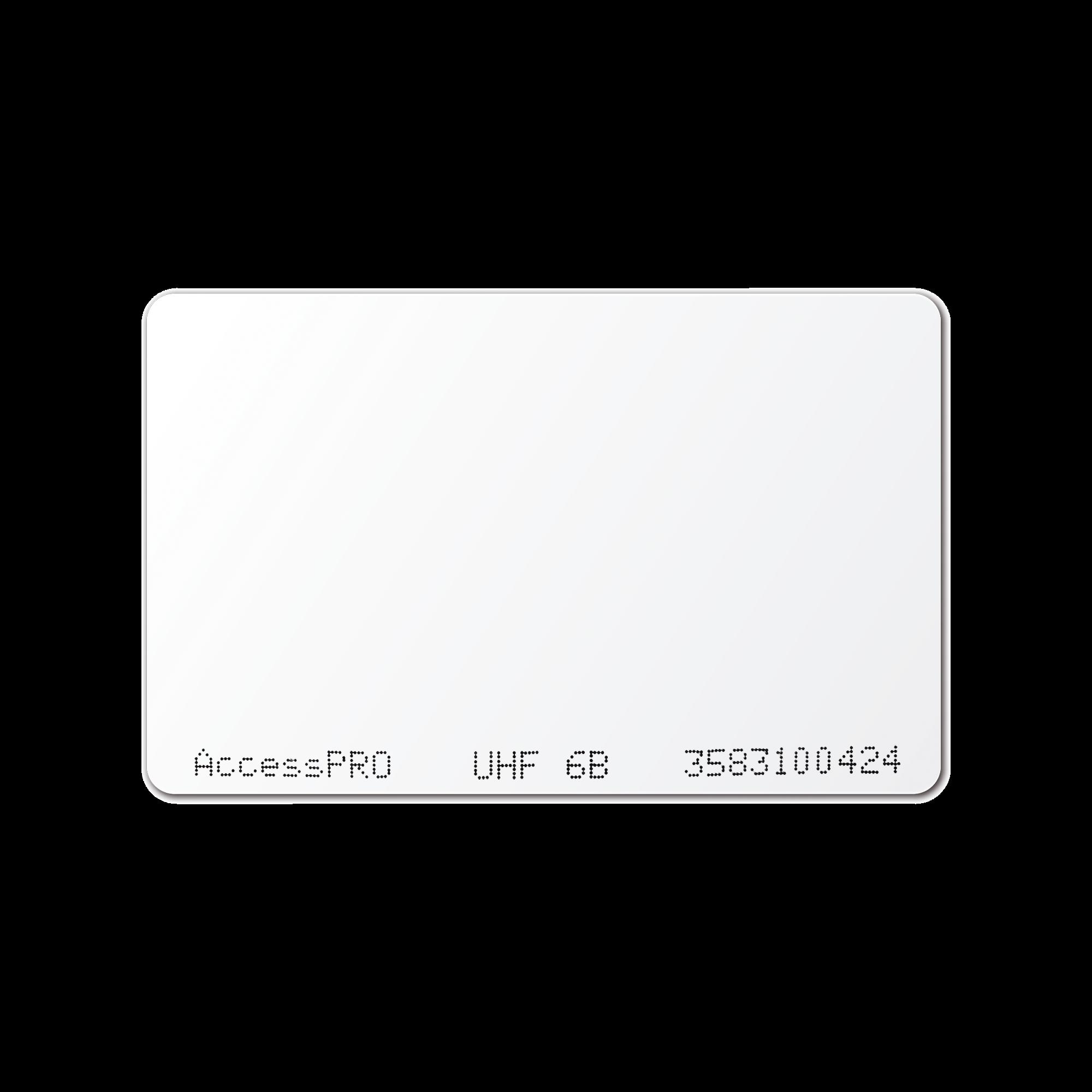 Tag UHF tipo Tarjeta para lectoras de largo alcance 900 MHZ / ISO 18000 6B / No imprimible / No incluye porta tarjeta
