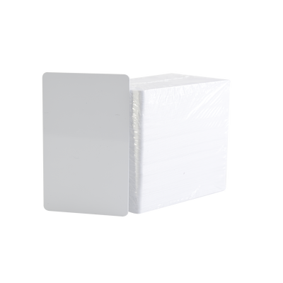 Paquete de 100 Tarjetas Adhesivas  Imprimibles por un sólo lado / Para pegar sobre tarjetas no imprimibles /CR80