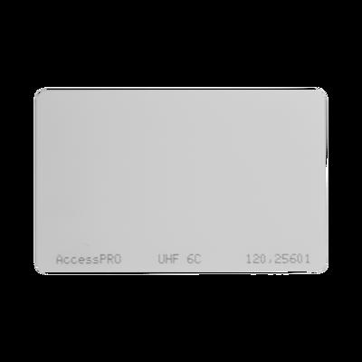 Tag UHF tipo Tarjeta para lectoras de largo alcance 900 MHZ / EPC GEN 2 / ISO 18000 6C / No imprimible / NO incluye porta tarjeta