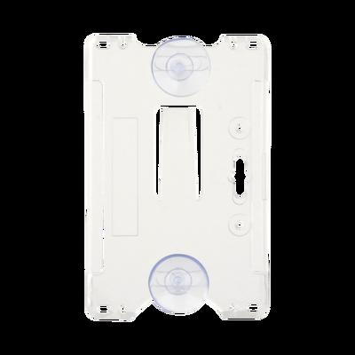 Porta tarjeta de plastico ABS / Transparente / Compatible con tarjetas ACCESSCARDEPC / PROCARDX