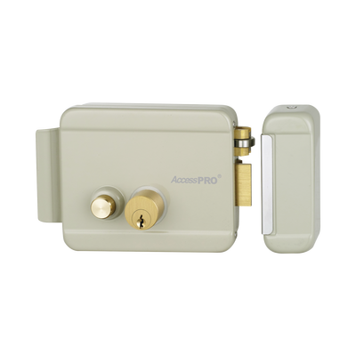 Cerradura Eléctrica con botón de salida/ Incluye Llave  / Exterior / Derecha