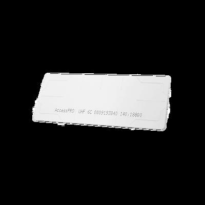 UHF TAG Adherible Tipo Etiqueta / EPC GEN 2 / Se Adhiere al Cristal del Vehículo / Compatible con Lectoras de Largo Alcance PRO12RF