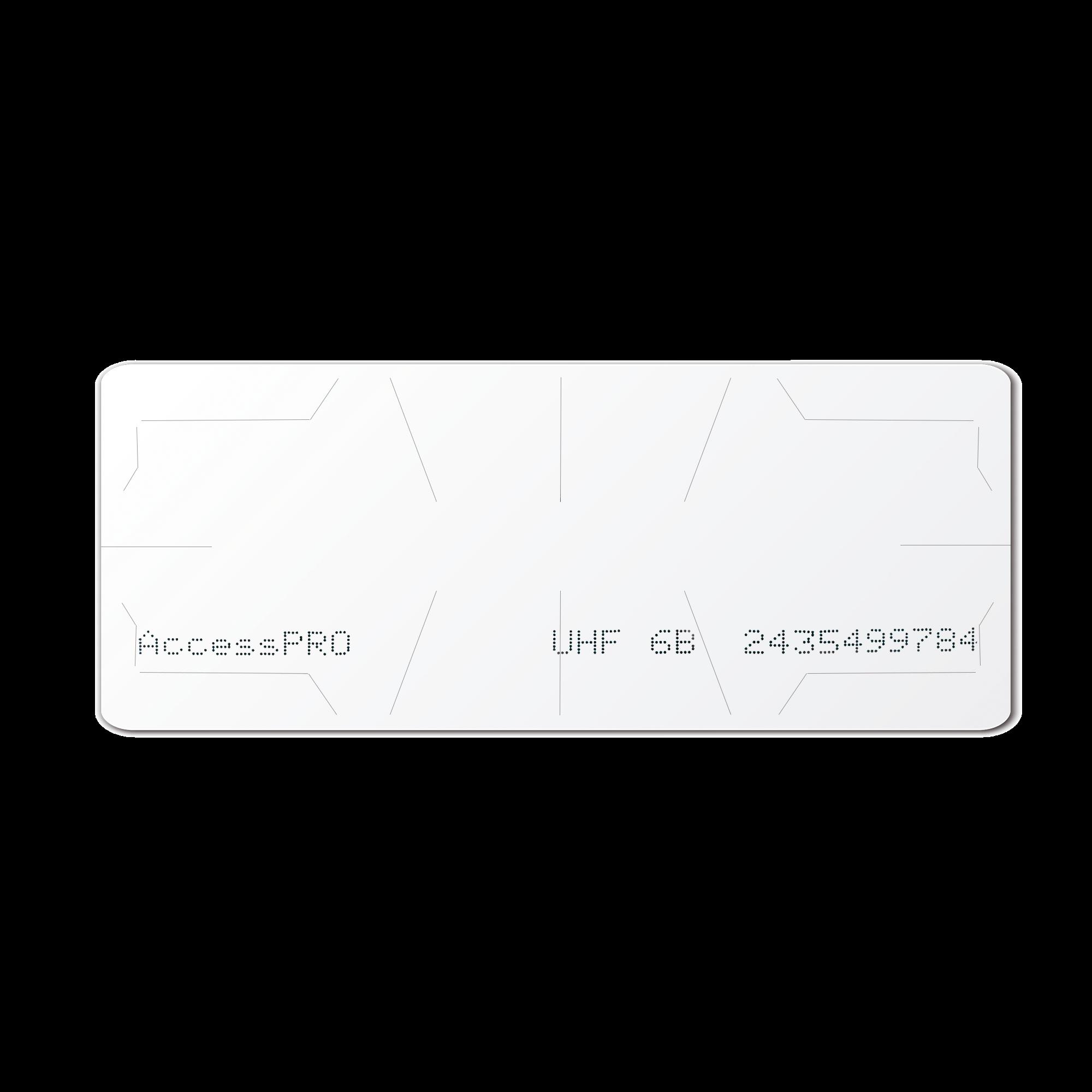 UHF TAG Adherible Tipo Etiqueta / ISO 18000 6B / Se Adhiere al Cristal del Vehículo / Compatible con Lectoras de Largo Alcance PRO12RF y PRO6RF