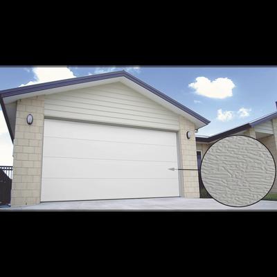 Puerta de Garage PREMIUM, Lisa color blanco  12X7 FT, AISLADA, Estilo U.S.A.