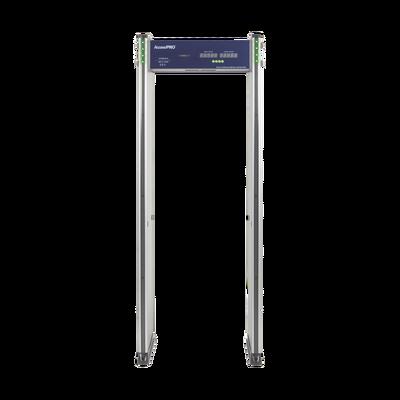 Detector de metales de 6 zonas/ Uso en Interior/ Contador de alarmas y Personas