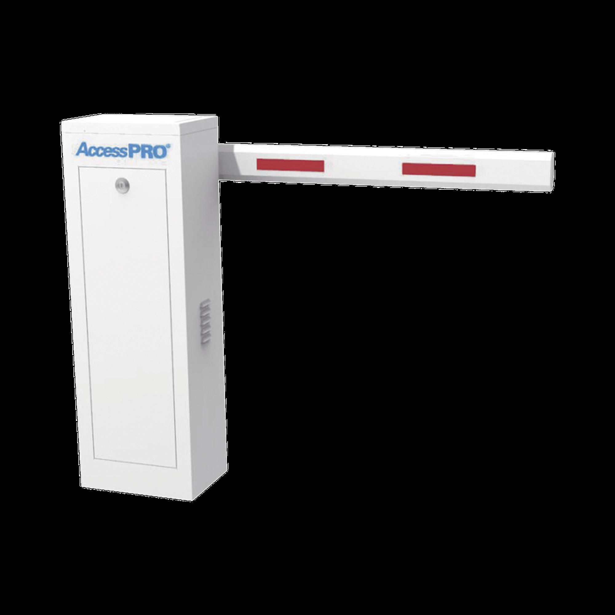 Kit de Barrera Vehicular Derecha con Brazo Telescópico / Soporta brazo Telescópico de hasta 6 metros / Tiempo de Apertura 6 segundos