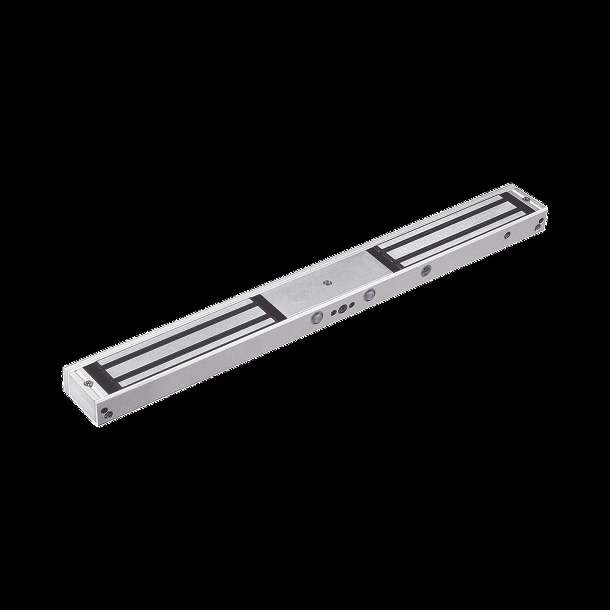 Chapa Magnética Doble para Aplicación en Puertas de Doble Hoja. 1200 lbs(x 2). LED indicador ultrabrillante