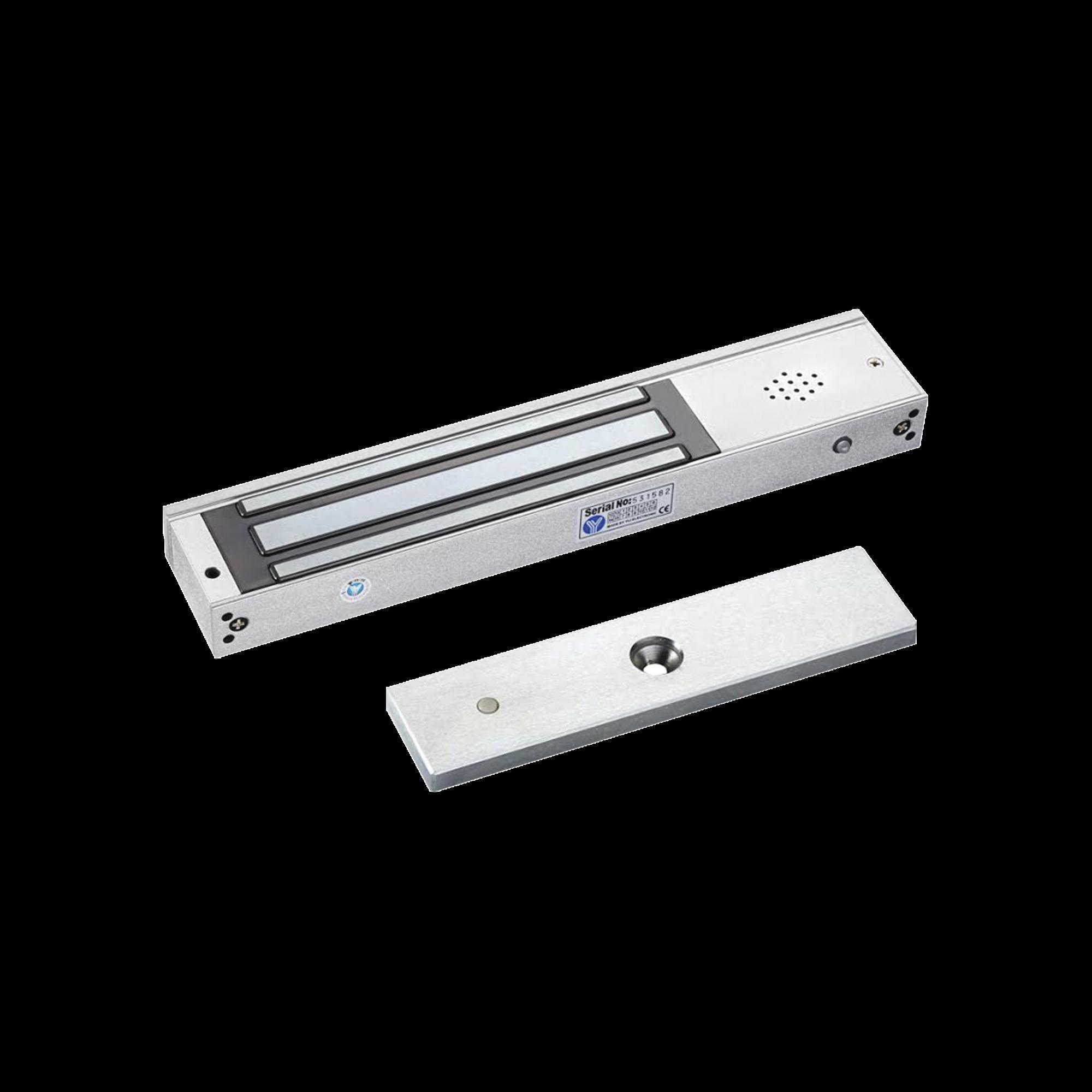 Chapa magnetica 600Lb con  Buzzer de alarma de puerta abierta / LED indicador de estado /  Sensor de estado de placa/ Libre de Magnetismo Residual