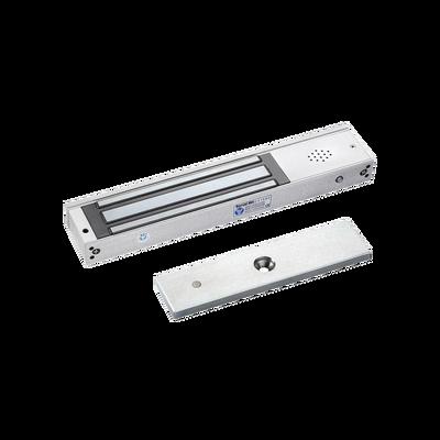 Chapa magnética 600Lb con  Buzzer de alarma de puerta abierta / LED indicador de estado /  Sensor de estado de placa/ Libre de Magnetismo Residual