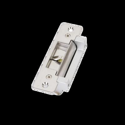 Contrachapa Eléctrica /Abierta o Cerrada en Caso de Falla (seleccionable)/ Sensor de Estado de Puerta / Uso en Interior