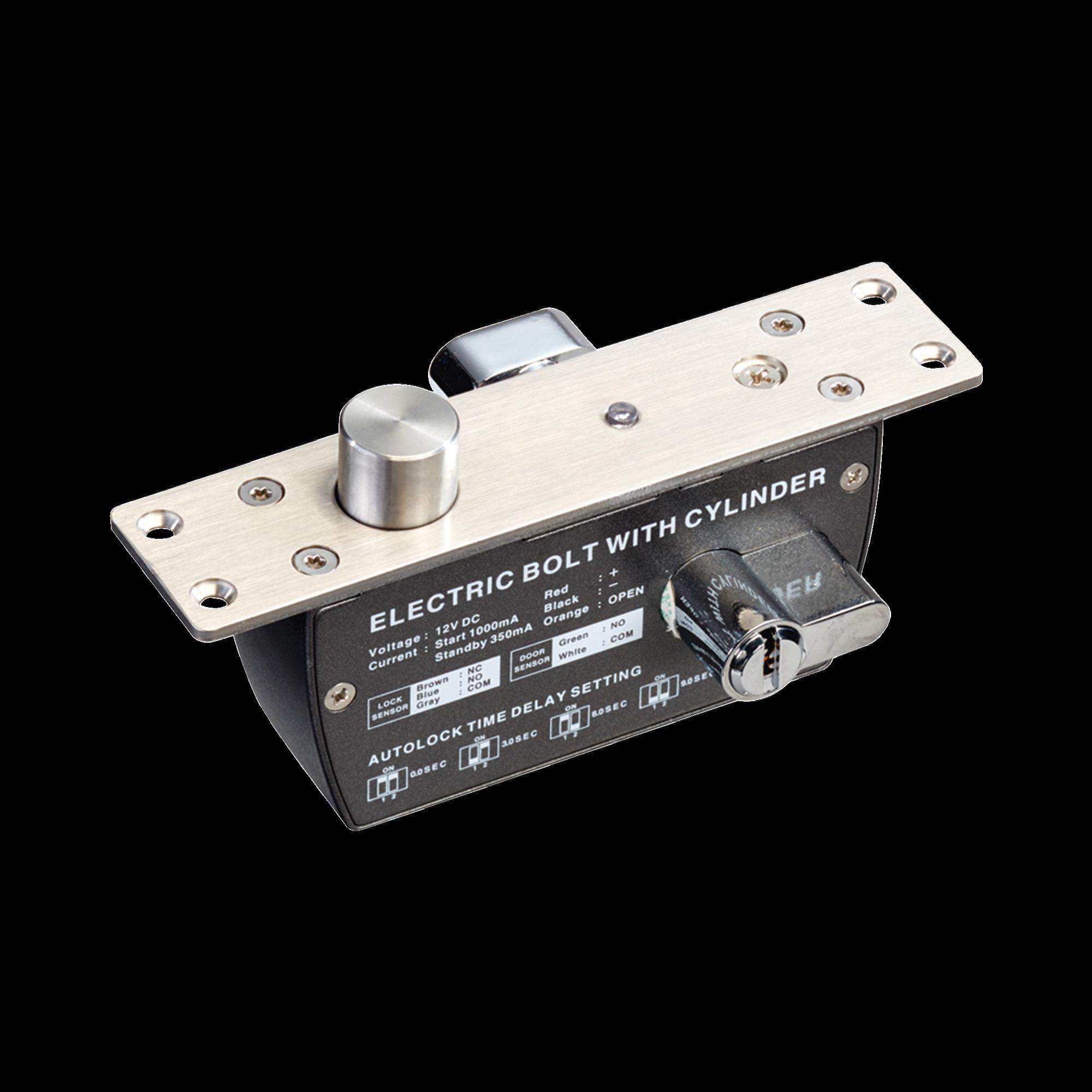 Cerradura de Perno 2000 kg de sujeción/ Abierta en caso de falla (Fail Safe)/ Con temporizador y Sensor de puerta