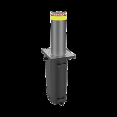 Bolardo Hidráulico / Alta resistencia al impacto hasta 300 000 J / Uso intensivo (Bomba italiana)/ Tarjeta controladora incluida / Fácil instalación