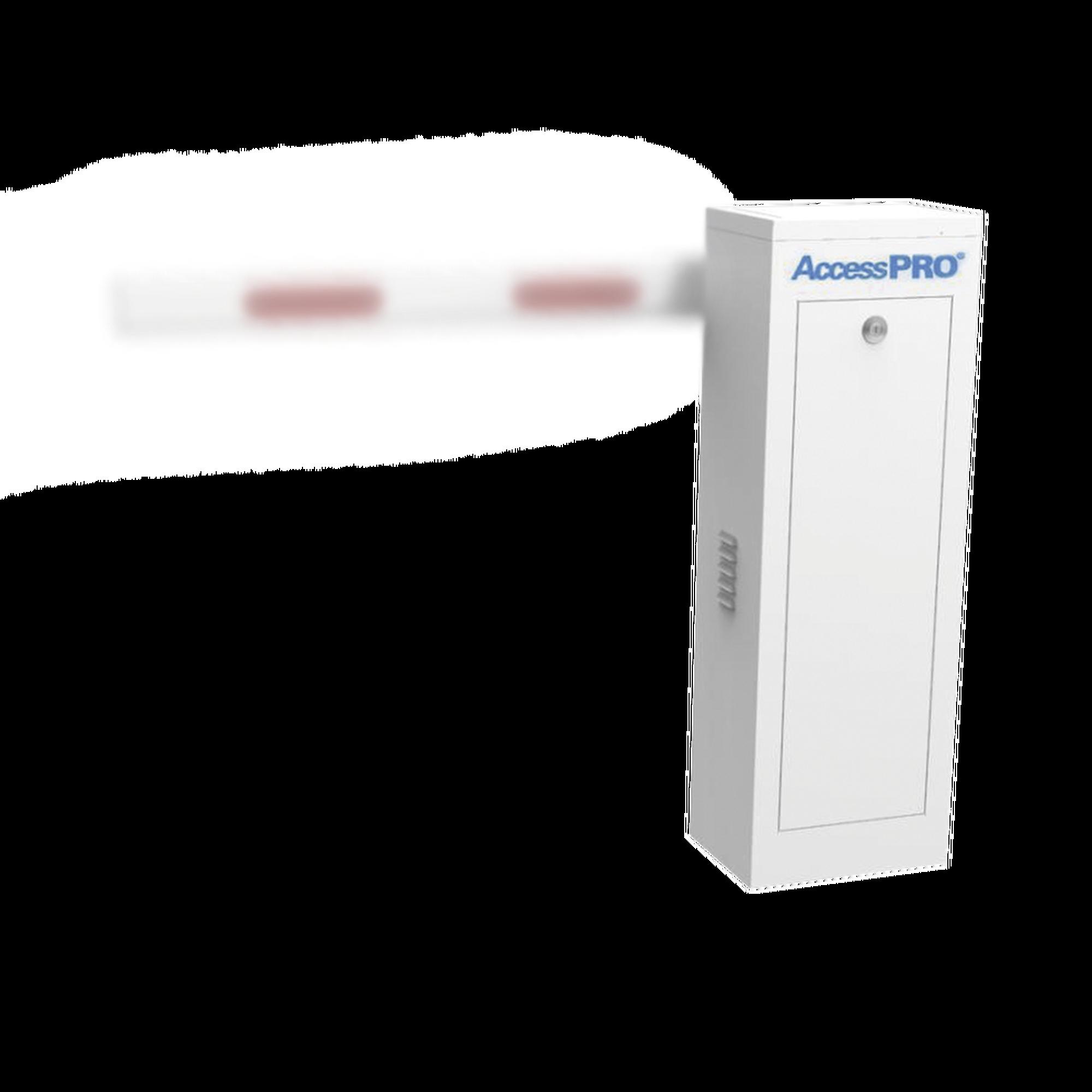 Barrera Vehicular Izquierda / Soporta brazo Telescópico de hasta 6 metros / Tiempo de Apertura 6 segundos