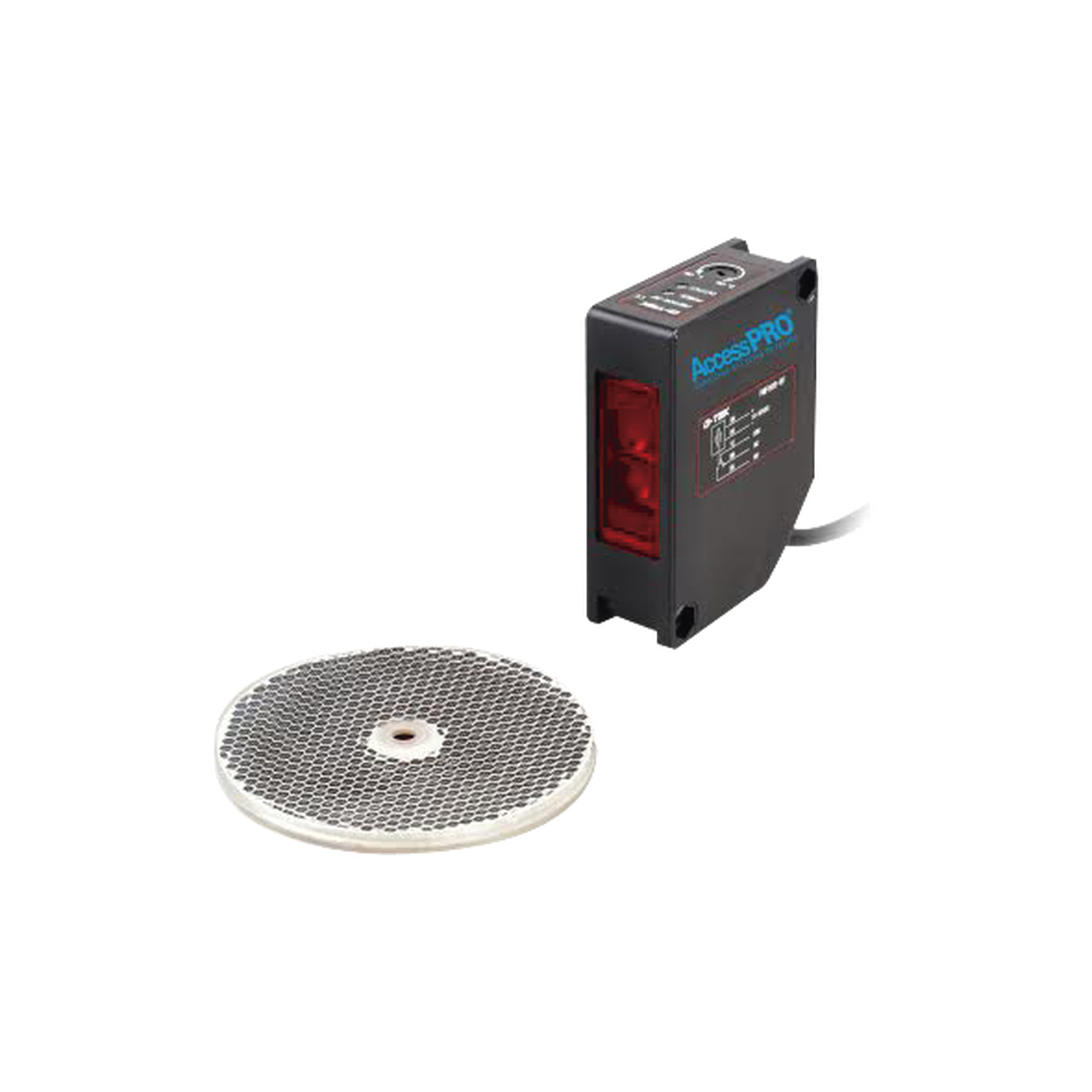 Detector fotoeléctrico de 16 m de alcance / Luz indicadora para alineación