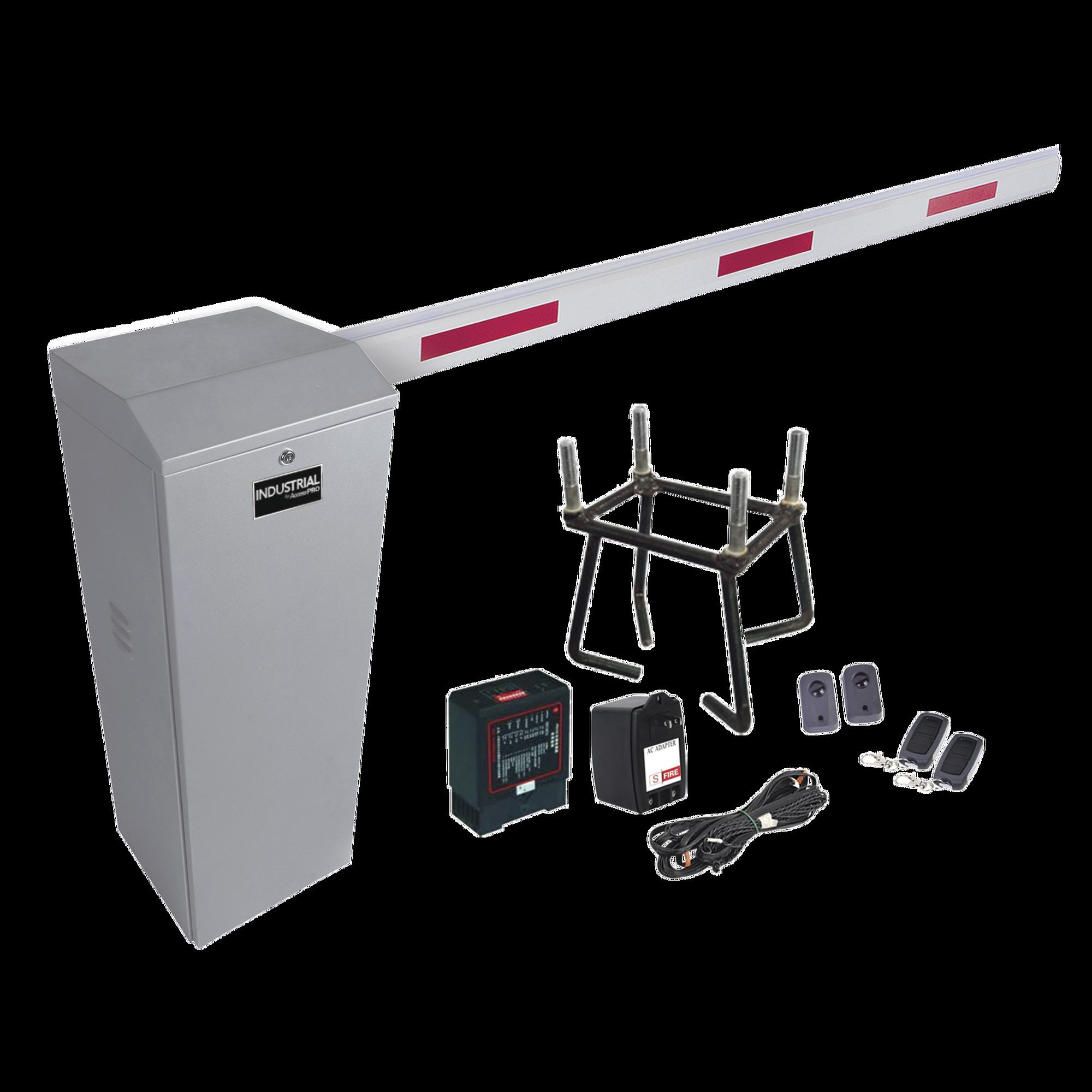 Kit COMPLETO Barrera Derecha XB / 3M / Incluye Sensor de masa, Transformador, Lazo, Ancla, Fotoceldas 2 Controles Inalámbricos