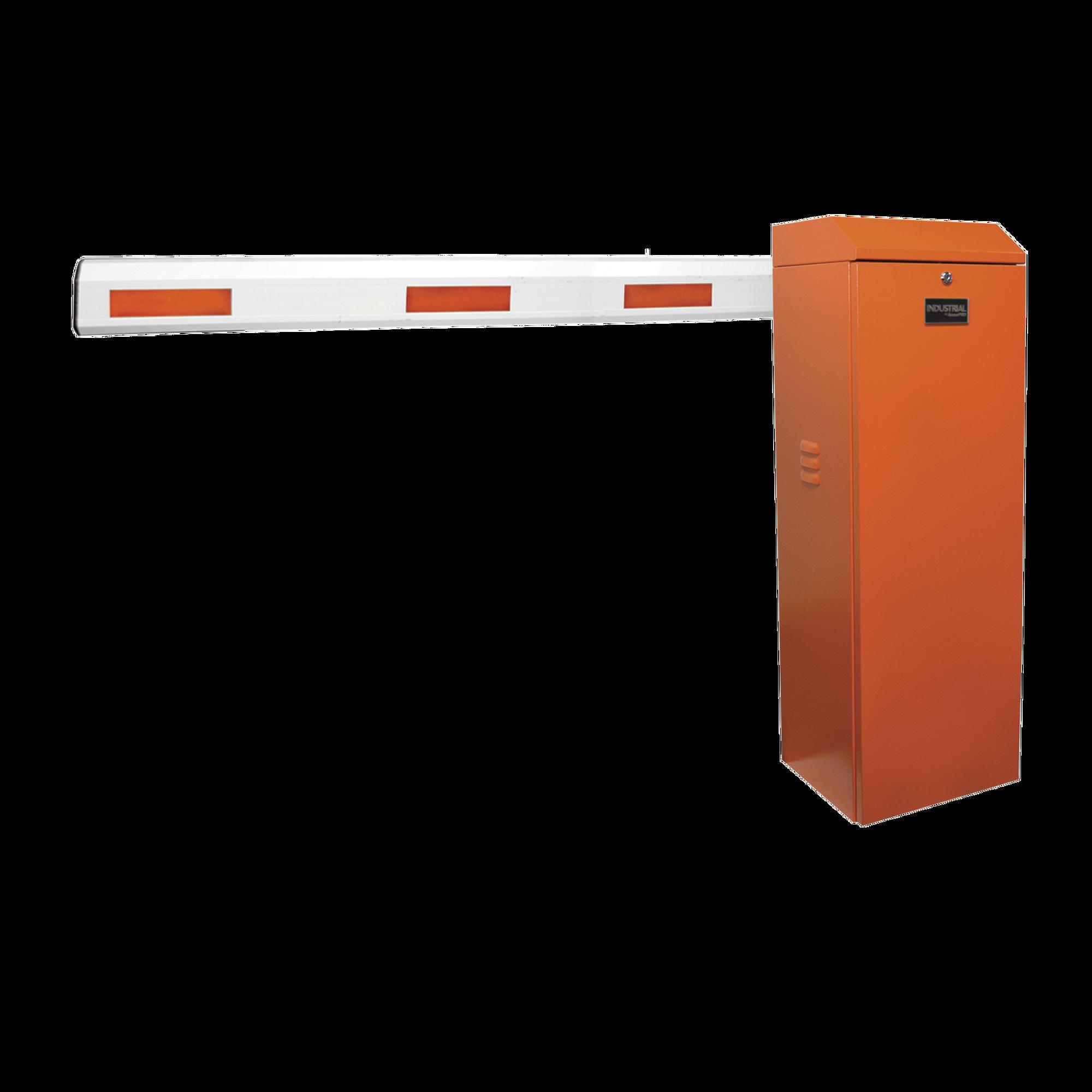 Kit de Barrera Vehicular Izquierda Color Naranja y Brazo Ajustable de 3.6 a 5.5 m