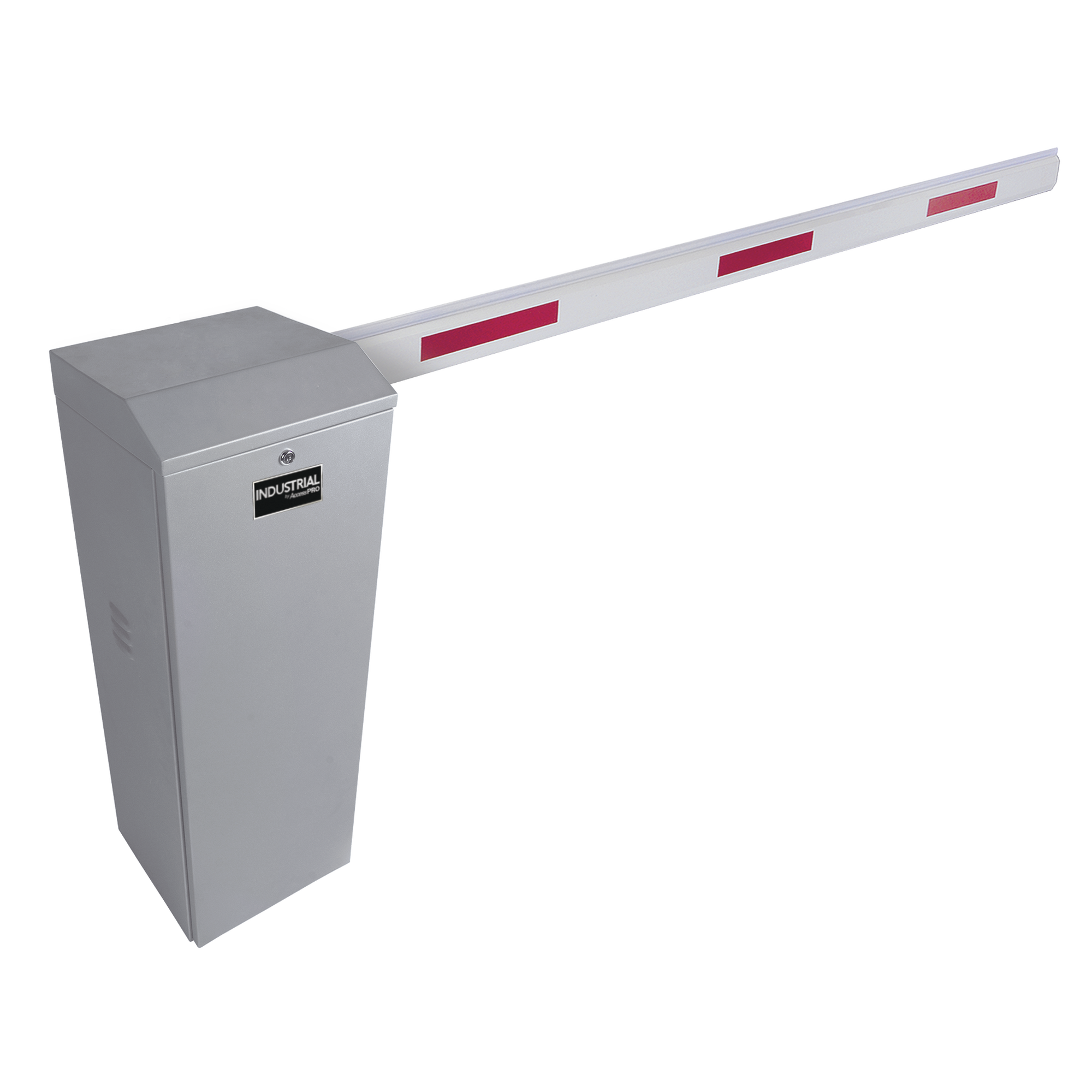 Kit de Barrera Vehicular Derecha Color Gris y Brazo Ajustable de 3.6 a 5.5 m