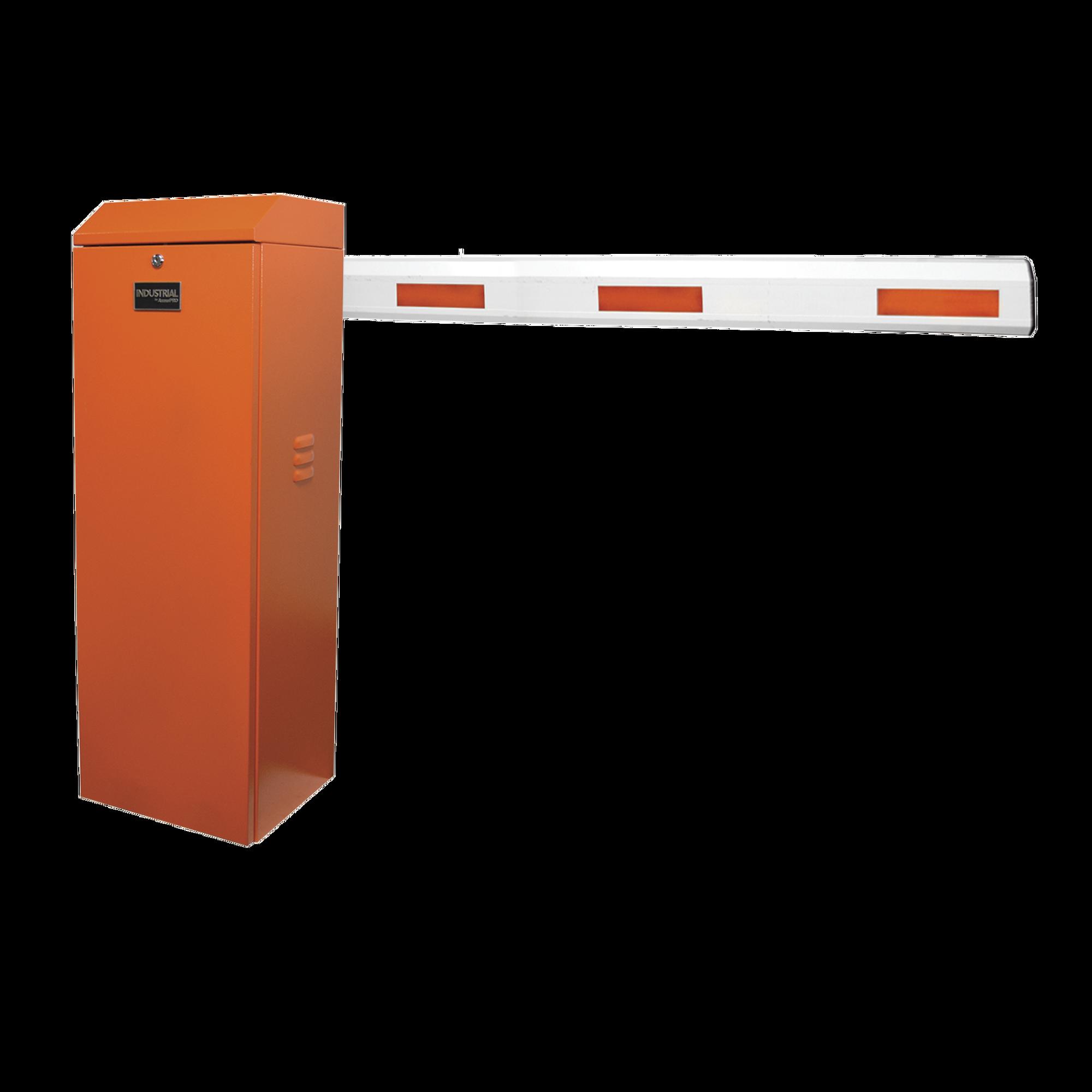 Kit de Barrera Vehicular Derecha Color Naranja y Brazo Ajustable de 3.6 a 5.5 m