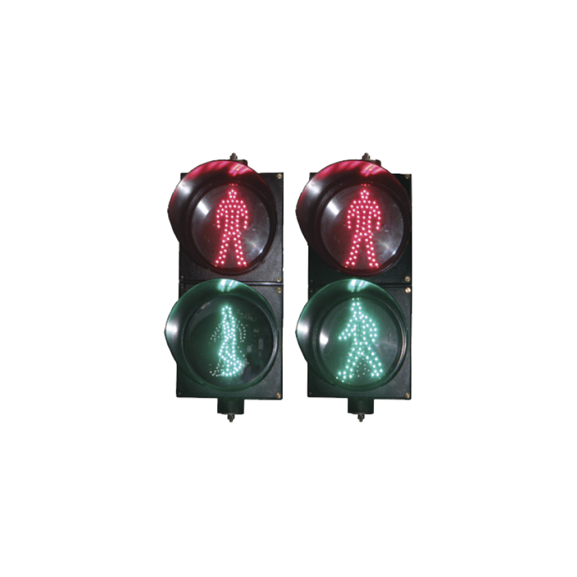 Semaforo peatonal con indicador alto/siga estatico
