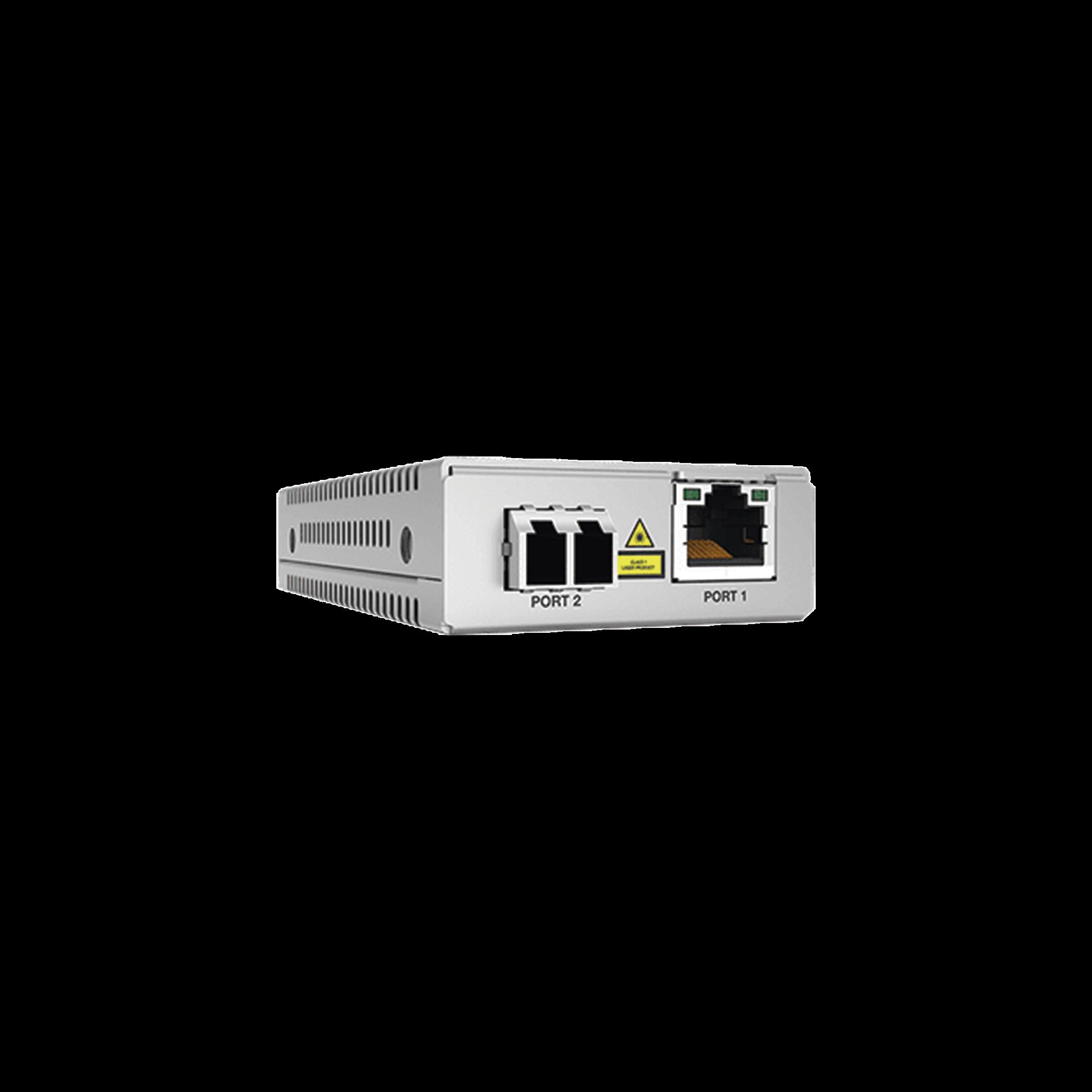 Convertidor de medios gigabit ethernet a fibra optica, conector LC, monomodo (SMF), version TAA (Trade Agreement Act), 10 km