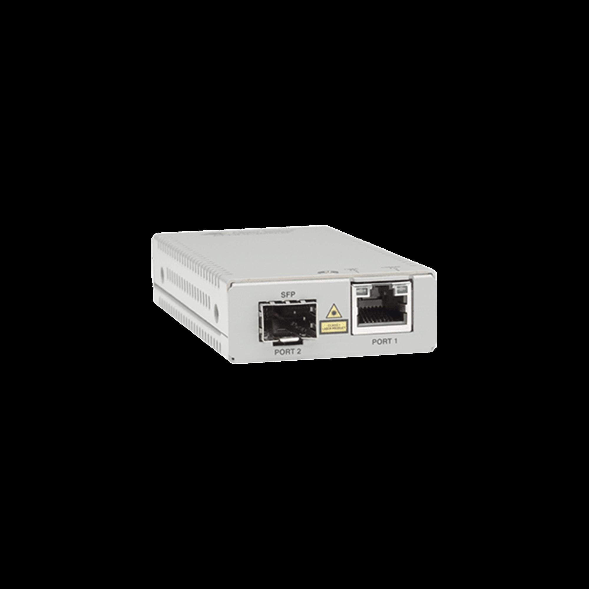 Convertidor de medios gigabit ethernet a fibra optica con puerto SFP (la distancia y tipo de fibra optica depende del transceptor)