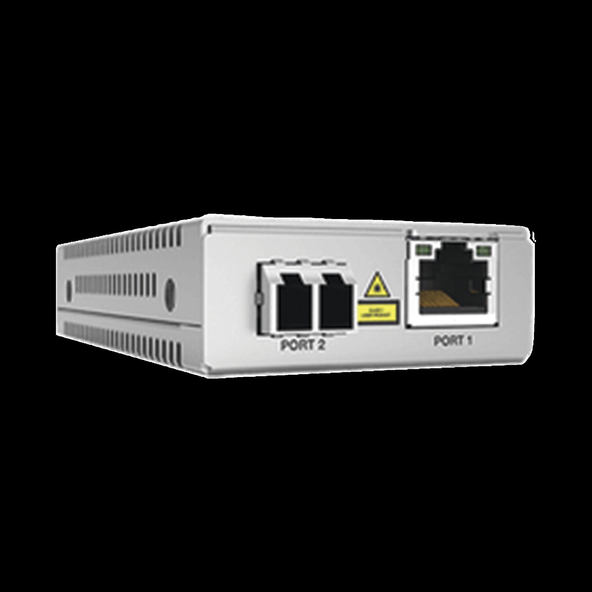 Convertidor de medios gigabit ethernet a fibra optica, conector LC, multimodo (MMF), distancia de 220 hasta 500 m, con fuente de alimentacion multi-region