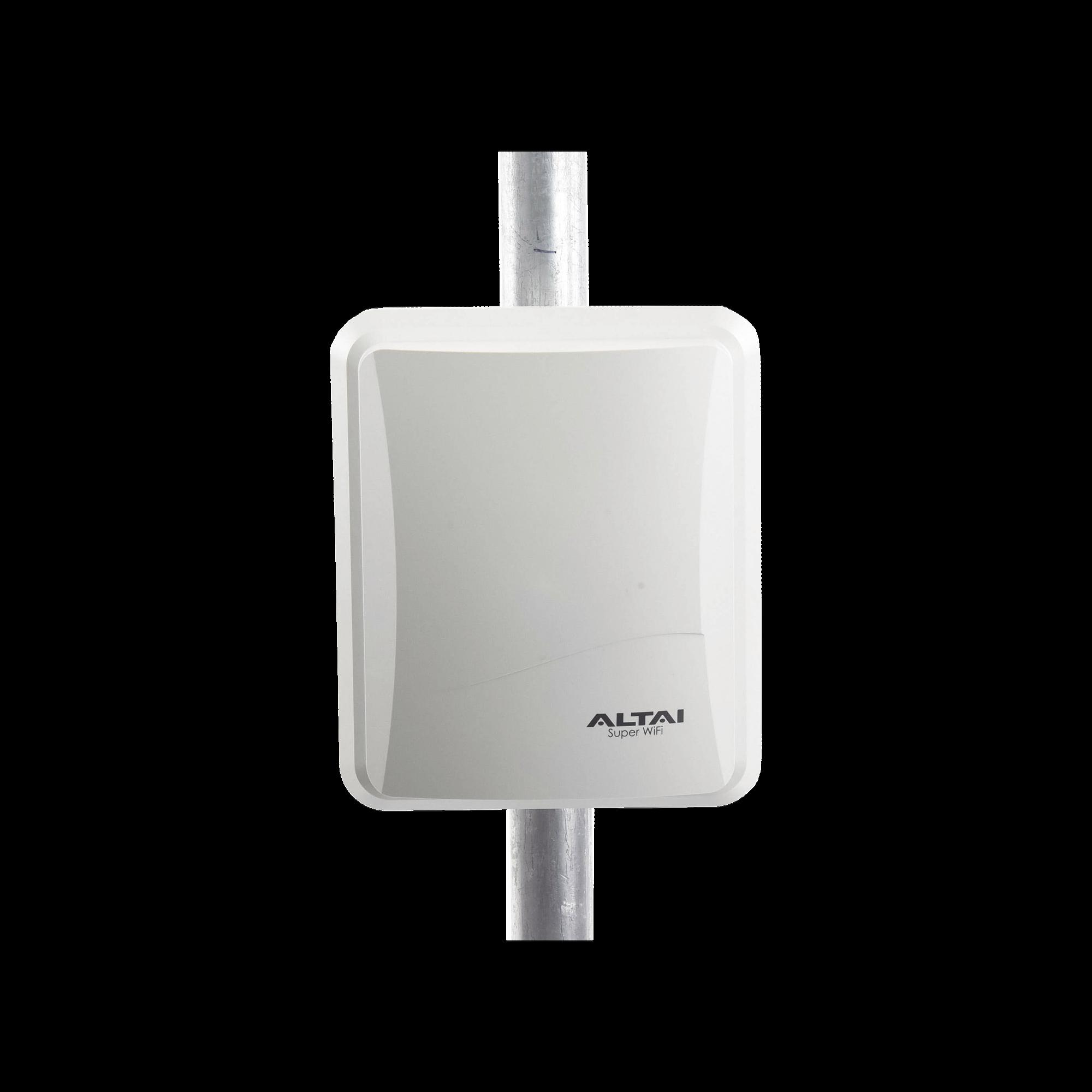 Punto de Acceso WiFi Omnidireccional 2.4/5.8 GHz Alta Capacidad para Exterior 512 Usuarios Concurrentes hasta 600m de cobertura radial