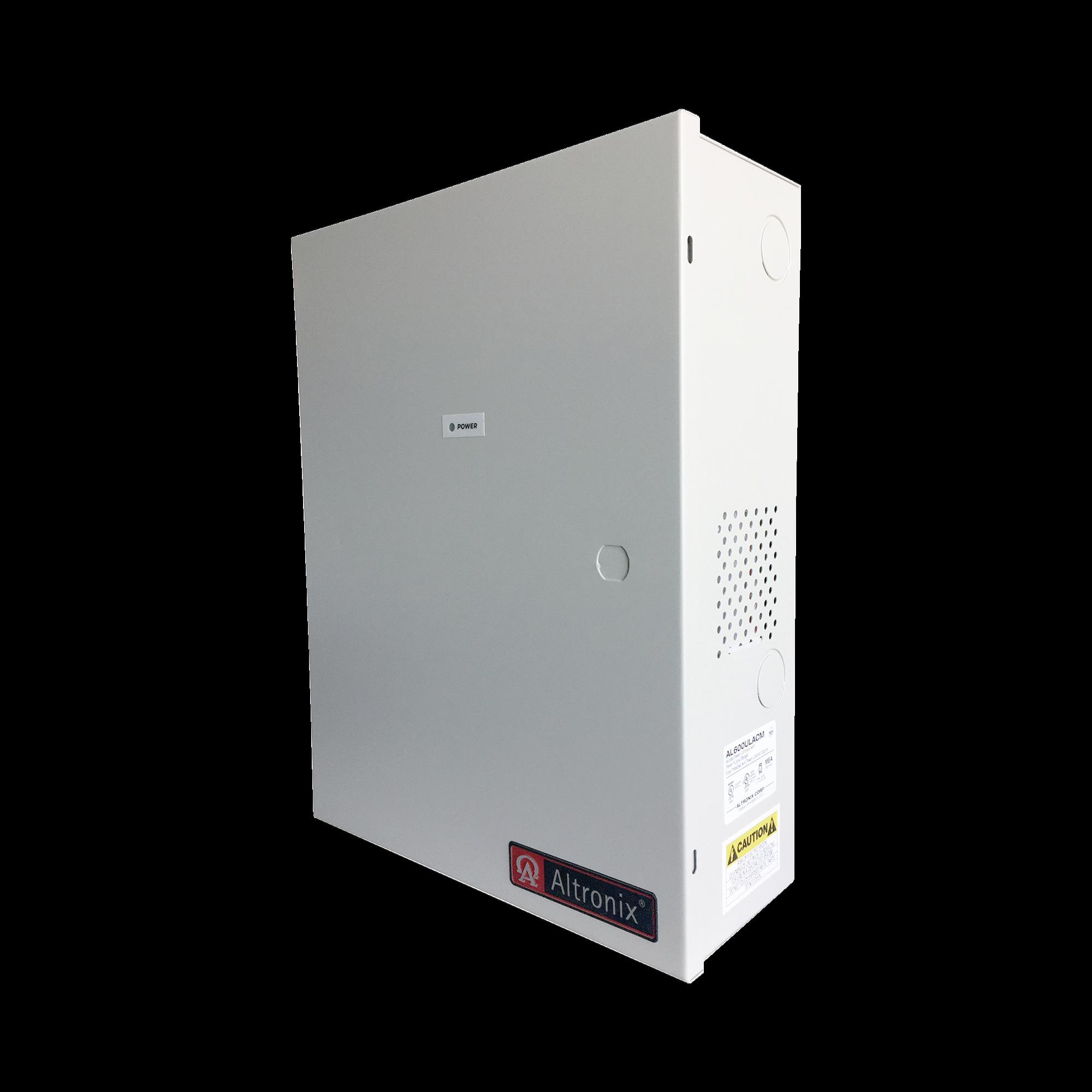 Fuente de poder ALTRONIX de 12/24 Vcd @ 6 Amper, con capacidad de respaldo, 8 salidas, con voltaje de entrada de 115 Vca