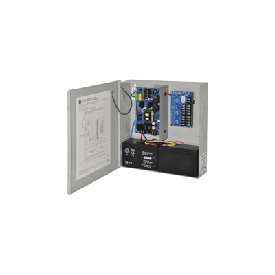 Fuente de poder ALTRONIX dual de 12 Vcd o 24 Vcd @ 6 Amper, para 8 cámaras, con voltaje de entrada de 115 Vca