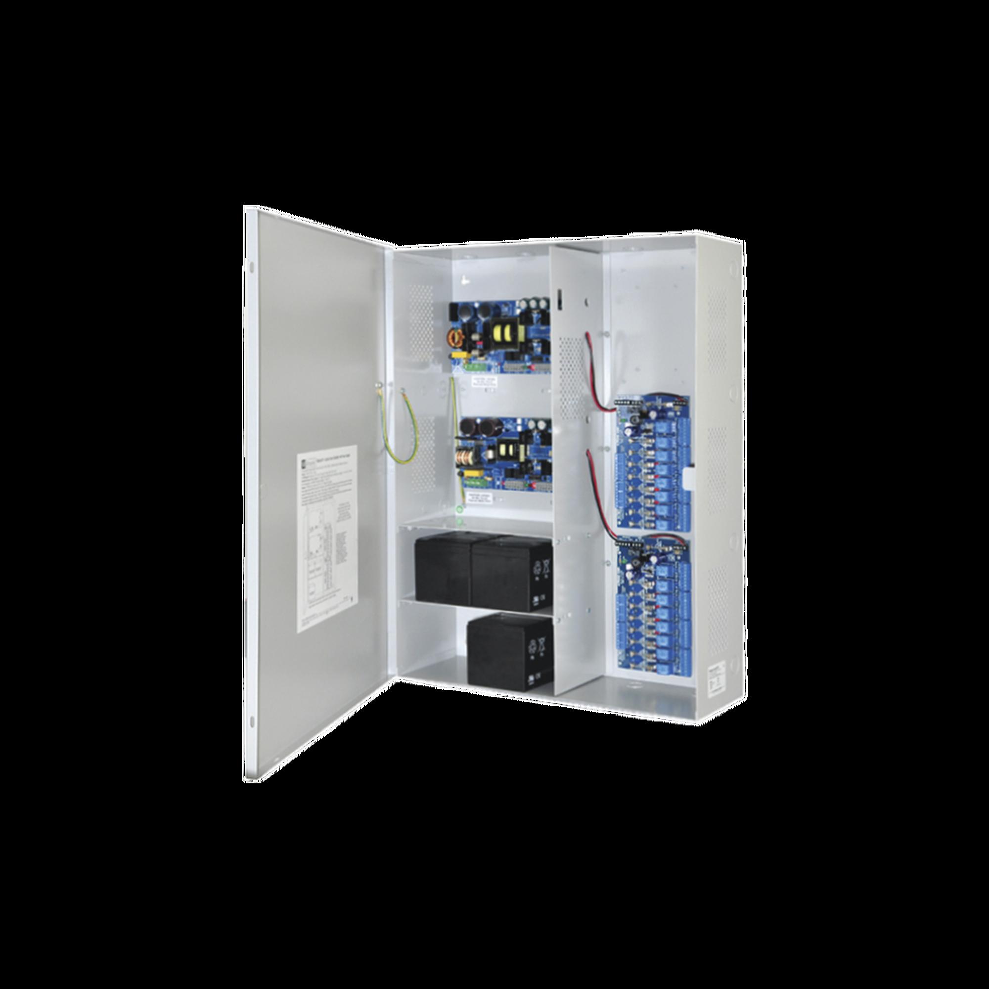 Fuente de poder DUAL ALTRONIX de 12 Vcd @ 9.3 Amper, y 24 Vcd @ 9.6 Amper con 16 salidas, con capacidad de respaldo, para aplicaciones de control de acceso, alarmas, CCTV, con voltaje de entrada en 120 Vca
