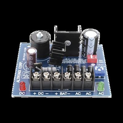 Fuente Tipo tarjeta de 1 salida seleccionable en 6,12 Y 24Vcd @ 2.5 A con capacidad de respaldo, requiere transformador de entrada