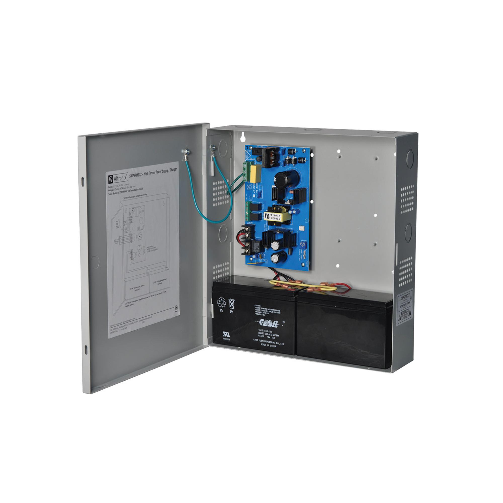 Fuente de poder de 12/24 VCD, 4 A. Ideal para aplicaciones de intrusión/Acceso/CCTV/ Fuente Supervisada