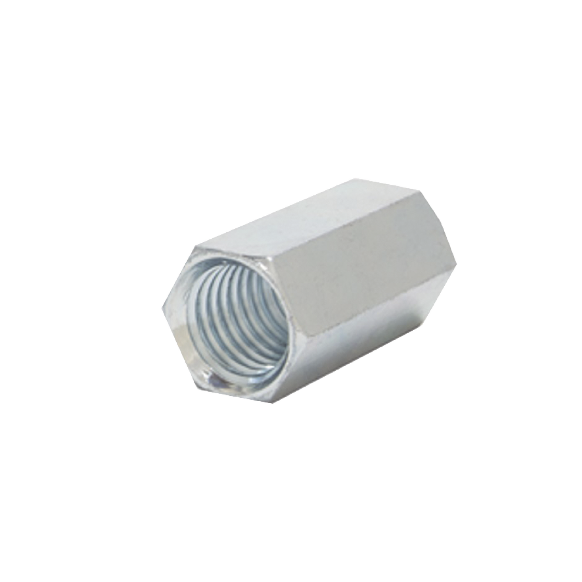 Cople hexagonal roscado cuerda máquina galvanizado d 9.5 mm (3/8)