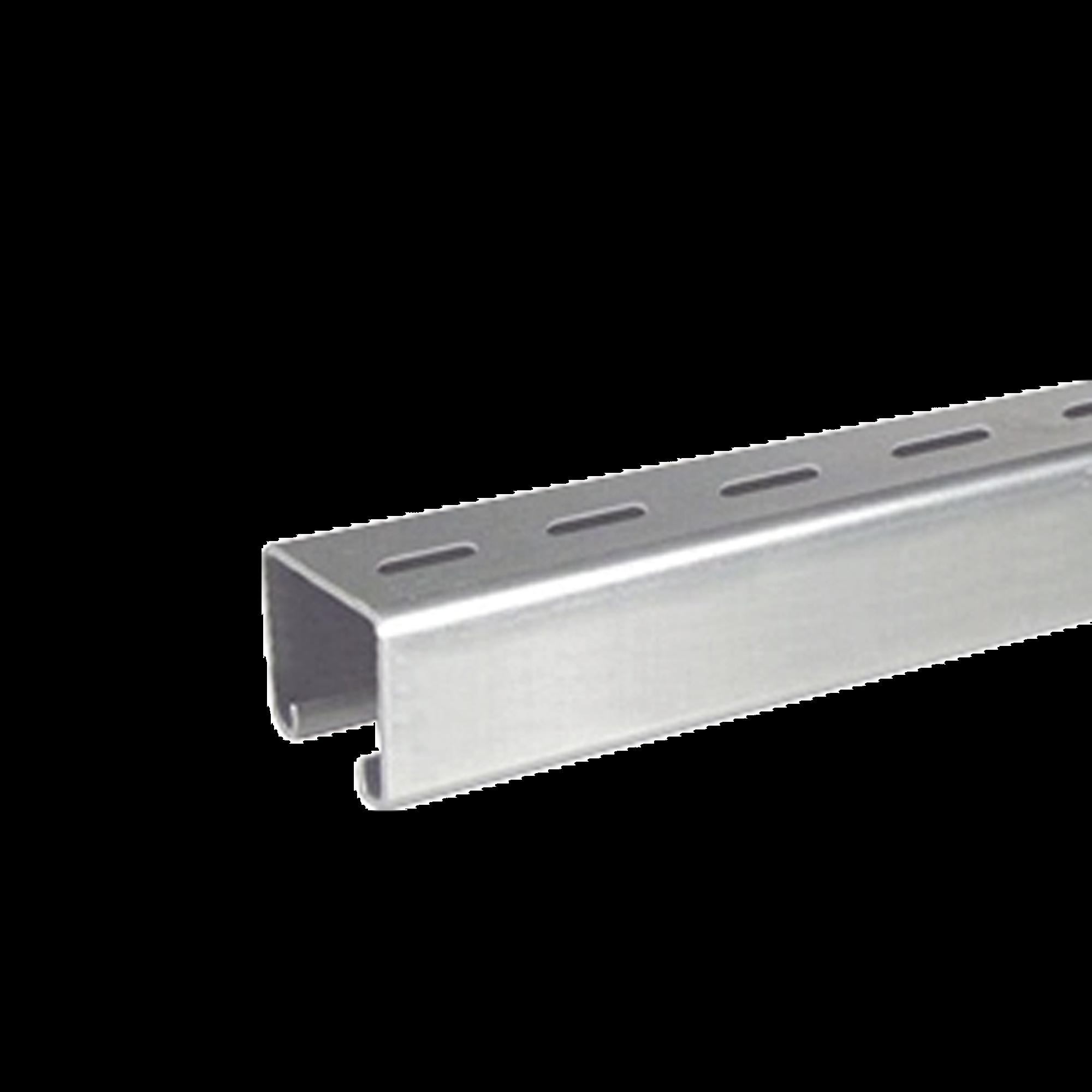 Unicanal Perforado 4 x 4 Calibre 16 de 3 metros.
