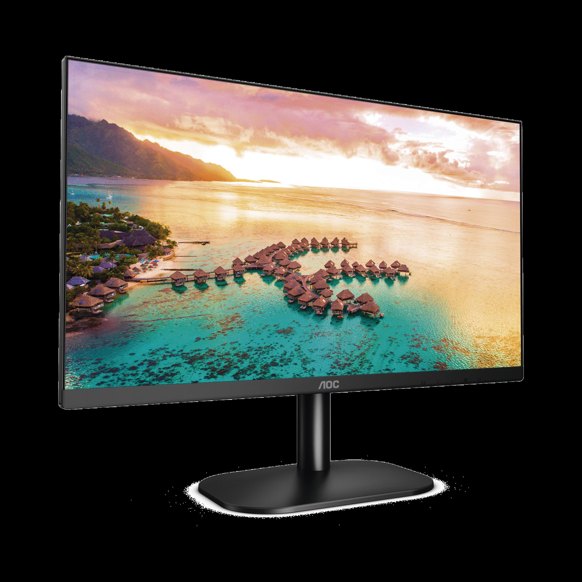 Monitor LED de 23.8 VESA, Resolución 1920 x 1080 Pixeles, Entradas de Video VGA/HDMI. Panel IPS LCD Backlight LED. Ultra Delgado