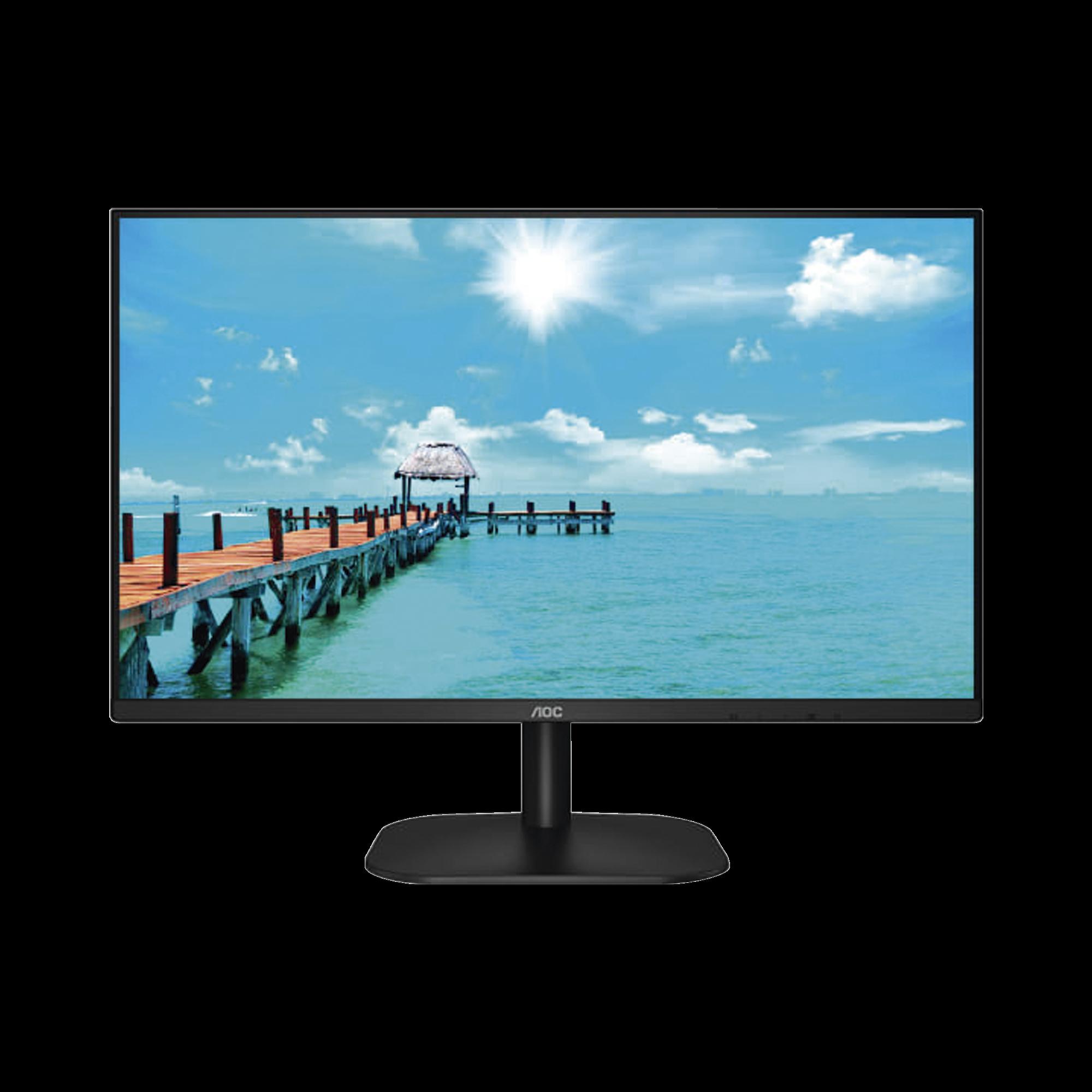 Monitor LED de 27 VESA, Resolución 1920 x 1080 Pixeles,  Entradas de Video VGA / HDMI. Panel IPS LCD  Backlight LED. Ultra Delgado