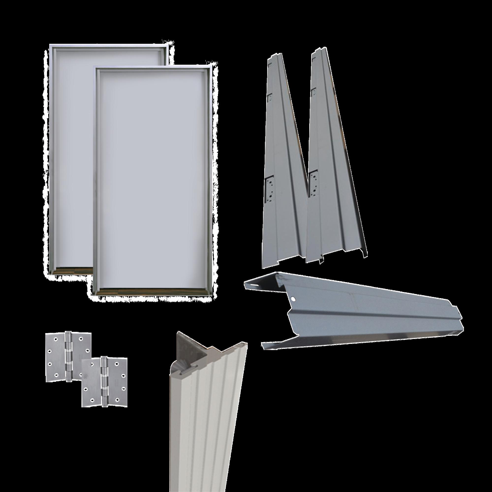 Kit Puerta doble metalica galvanizada 6 ft x 7 ft / Resistente al fuego por 90 min / UL