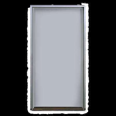 """Puerta metálica galvanizada 3' 0"""" x 7' 0"""" / Resistente a fuego por 180 min. /Preparación para cerradura cilíndrica y refuerzo para cierra puerta"""