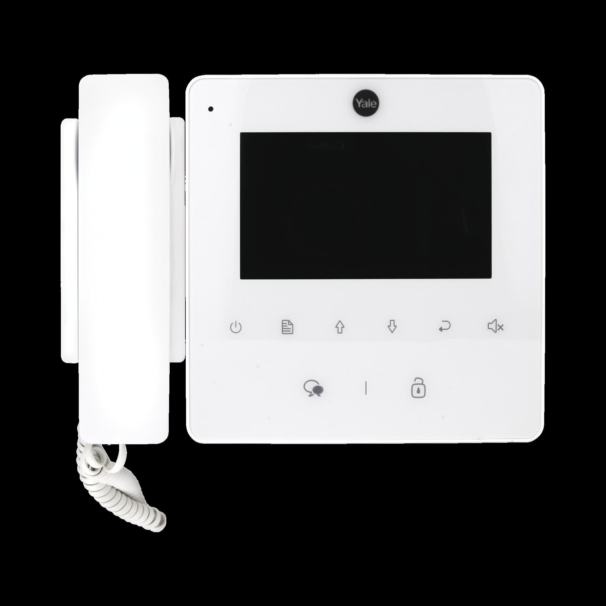Monitor con teléfono  blanco YDV4702 para tvportero 80126