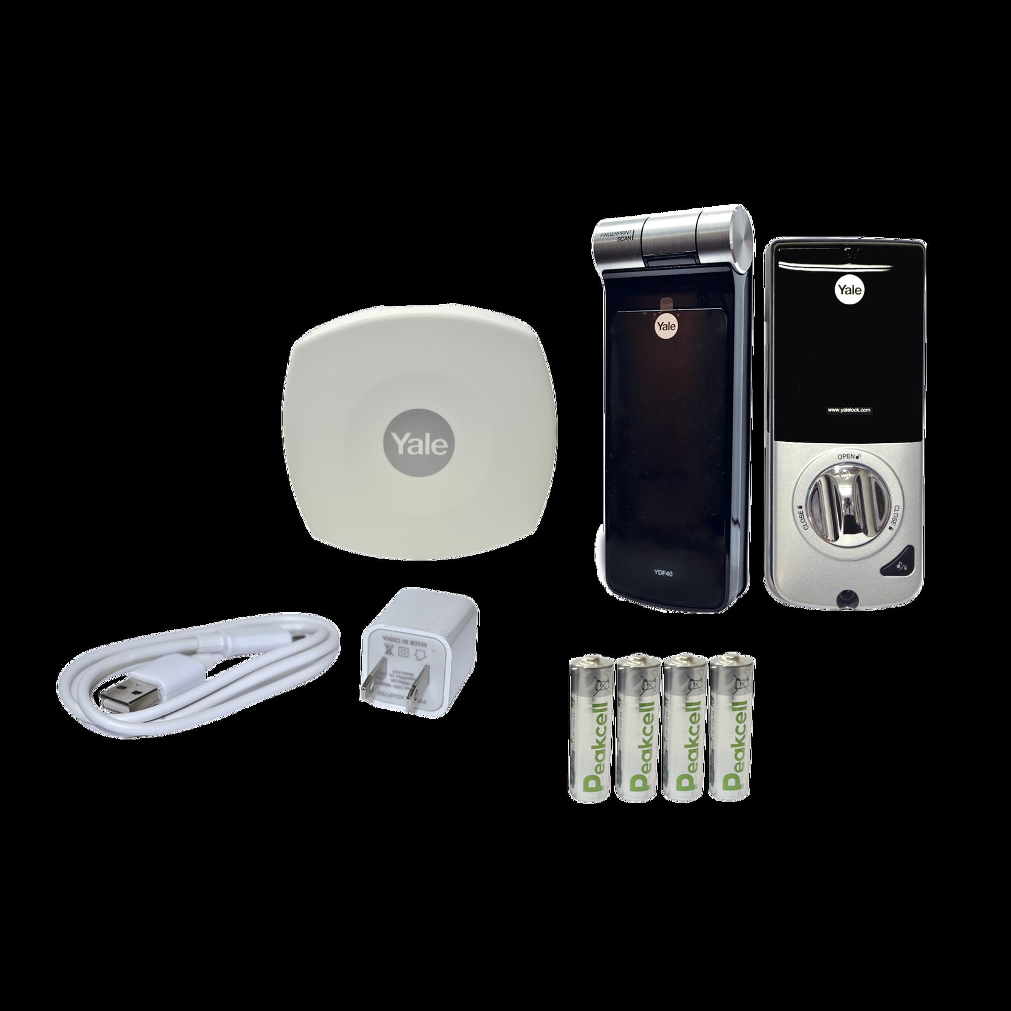 Kit de Hub con Cerradura YDF40: Código, Biometria y apertura Smartphone en cualquier parte el Mundo